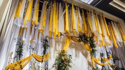 亮黄色主题婚礼