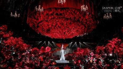 红黑系室内婚礼