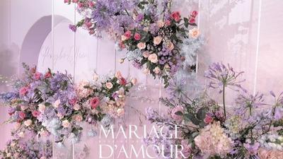 粉紫色系梦幻游乐园婚礼