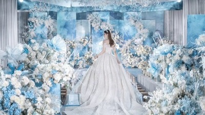 空气蓝与静谧蓝婚礼