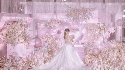 粉色系花盒婚礼