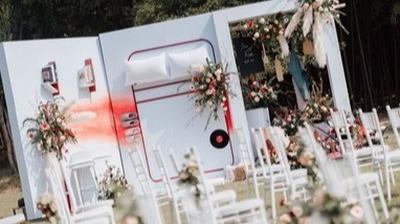 家居风户外婚礼布置