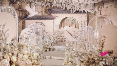 一场香槟色新中式婚礼