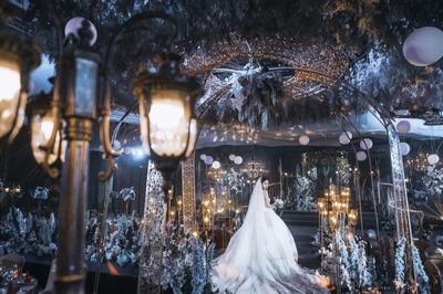 """蓝色撞色婚礼:这份怦然心动""""蓝到我了"""""""