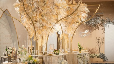 香槟色婚礼:在温柔的香槟色里和甜蜜撞个满怀