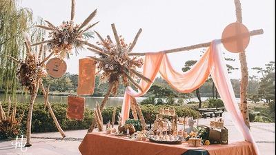 户外婚礼:橘黄色是秋日里的一抹暖阳