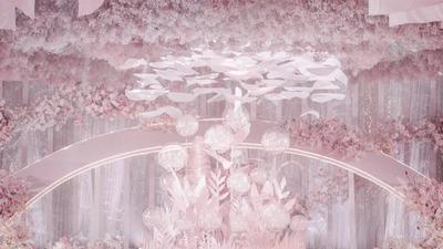 粉色的宇宙万物,这场婚礼之于我和你,充满引力