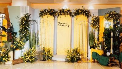 亮黄色婚礼案例