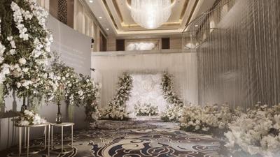 灰绿色的简约婚礼,细节体现高级,明亮中的温馨