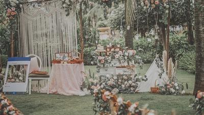 波西米亚风的户外婚礼,甜甜的新娘,搭配甜甜的爱情