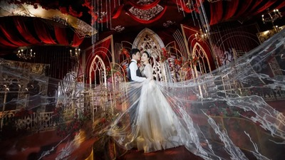 红金欧式城堡风格婚礼
