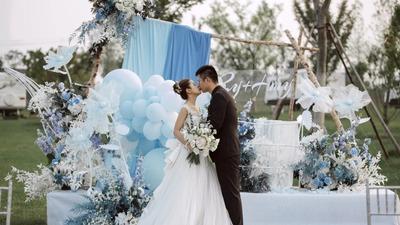 蓝色大海传说户外婚礼