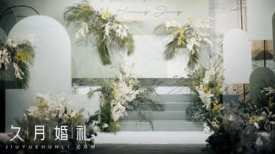 牛油果绿配色婚礼