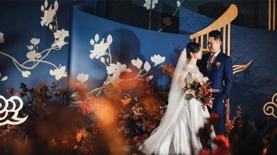 独特蓝新中式婚礼《深竹月》