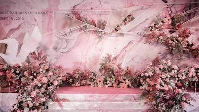 一场粉色浪漫的婚礼