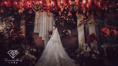 高贵优雅的勃艮第红婚礼