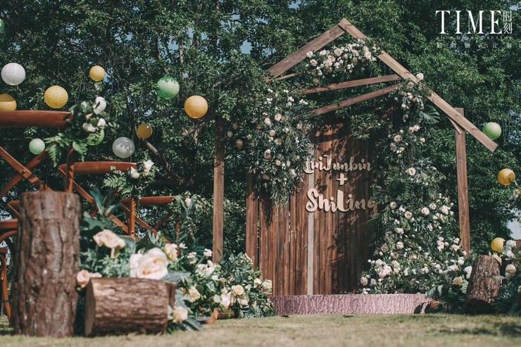 小清新户外婚礼