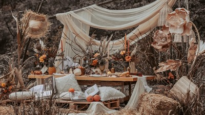山里的户外婚礼,充满诗意的小众婚礼