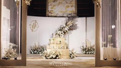"""一场南京婚礼告诉你 """"奶茶色""""能为婚礼增加几分甜"""