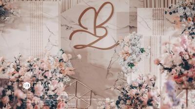 大理石纹简约风婚礼,素雅格调者的最爱