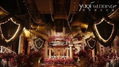 以爱之名予你最高权力,红金配色欧式复古婚礼