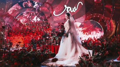 室内新中式 | 谁说红色婚礼太俗气,明明就时髦到飞起