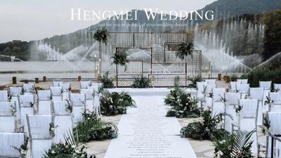这样高级的户外设计很特别,清新下的高级婚礼
