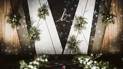 白绿色森系婚礼