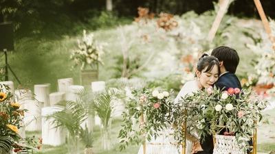 波西米亚风草坪婚礼