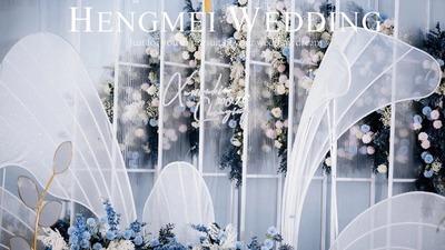 夏日小清新,蓝色的婚礼一扫夏热