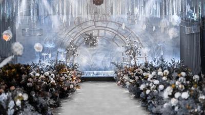 一场金陵饭店淡蓝色的小清新婚礼
