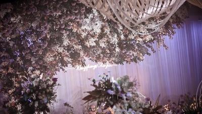 我们的又一场异地婚礼,紫色山水墨画婚礼