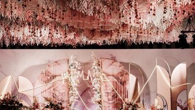 那些后来被我们发现的,是爱和宇宙,粉色主题婚礼