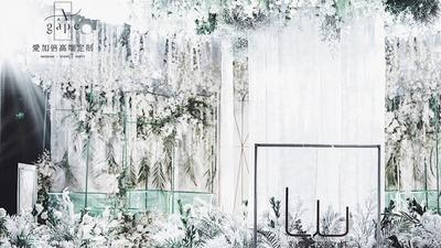 马拉喀什的经典配色,感受一千零一夜的梦幻,白绿色系婚礼