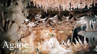 开始一个人,你认真将故事写成我们,紫色欧式宫廷婚礼