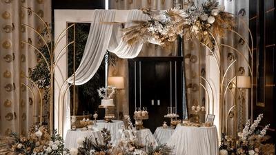 感受线条肌理的律动之美,香槟色流动感婚礼