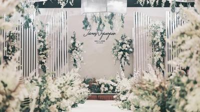 给你的婚礼来一份清凉,白绿色田园风婚礼