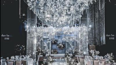 蓝白婚礼,是一种灵动温暖的情愫,象征着爱情始终如一