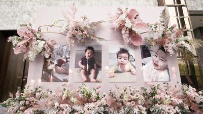 可爱的北鼻见证了爸爸妈妈的跨国恋情,粉色宝宝宴