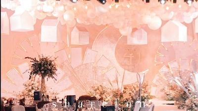 用气球引爆婚礼高潮,粉色气球的梦幻