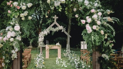 白色系户外婚礼,基督徒的温暖婚礼