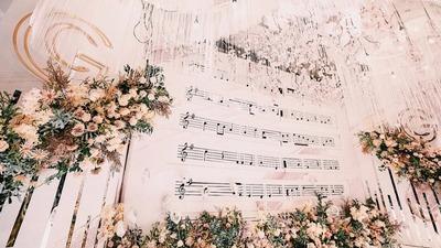 香槟粉音乐主题婚礼