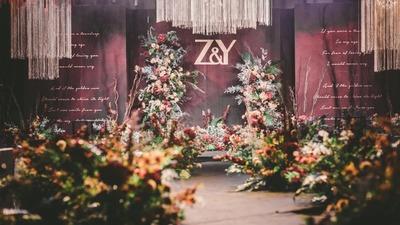 穿过青葱校园,陪你度过漫长岁月,勃艮第红婚礼