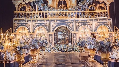 巴洛克风格婚礼,中世纪西欧的奢华和璀璨