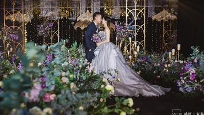 紫色+金色系婚礼作品