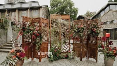 新中式婚礼,户外也可中国风