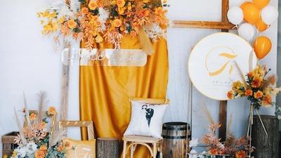 望暮光至,皆为童话,橙色调美式田园婚礼