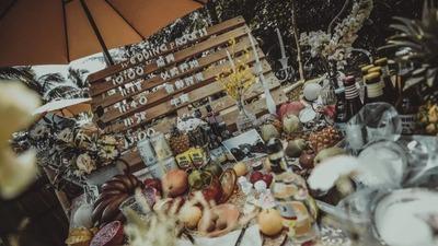 田园风户外婚礼,体现爱情的质朴和自由