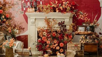 入目之处皆是秋,红橙色复古婚礼