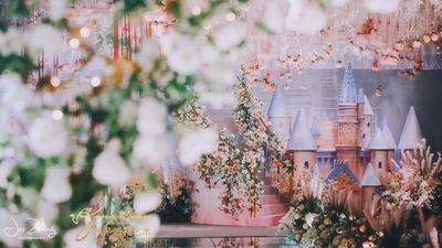 一场成真的迪士尼公主梦,粉色公主般的婚礼
